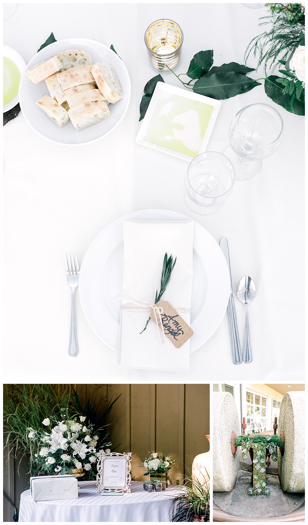 elegant tablescape with flowers at red ridge farms in wine country oregon