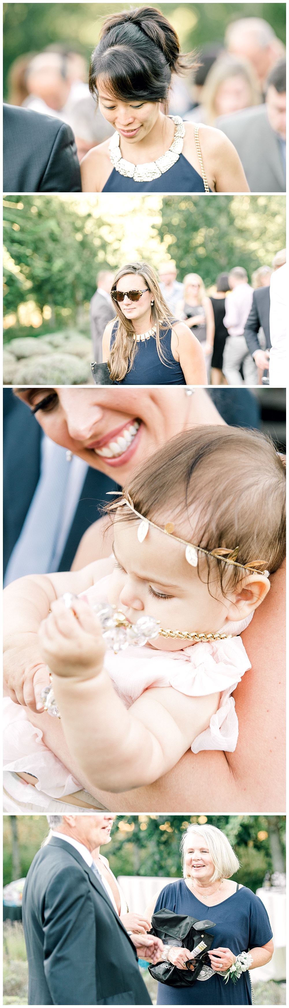 bride with adorable 1 year old baby, smiling