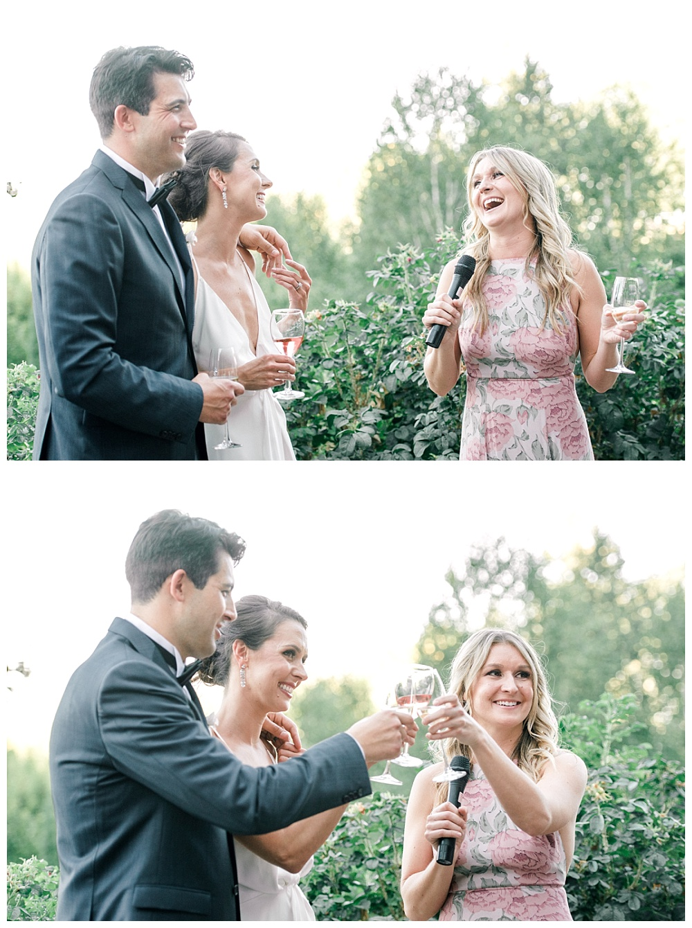 toasts at red ridge farms wedding in dayton, oregon wine country