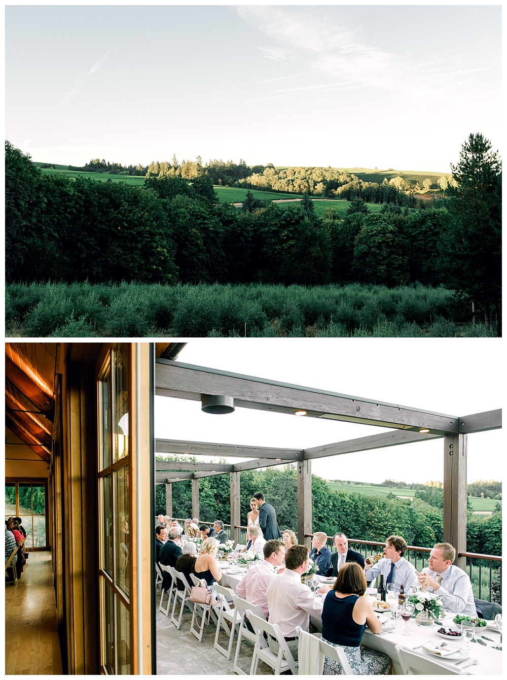 dinner and sweeping landscape views of oregon wine country near dayton in the willamette valley