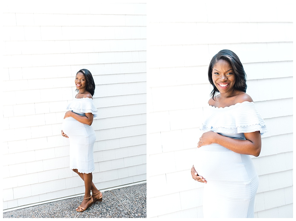 Maternity photos at the Waverley Country Club terrace