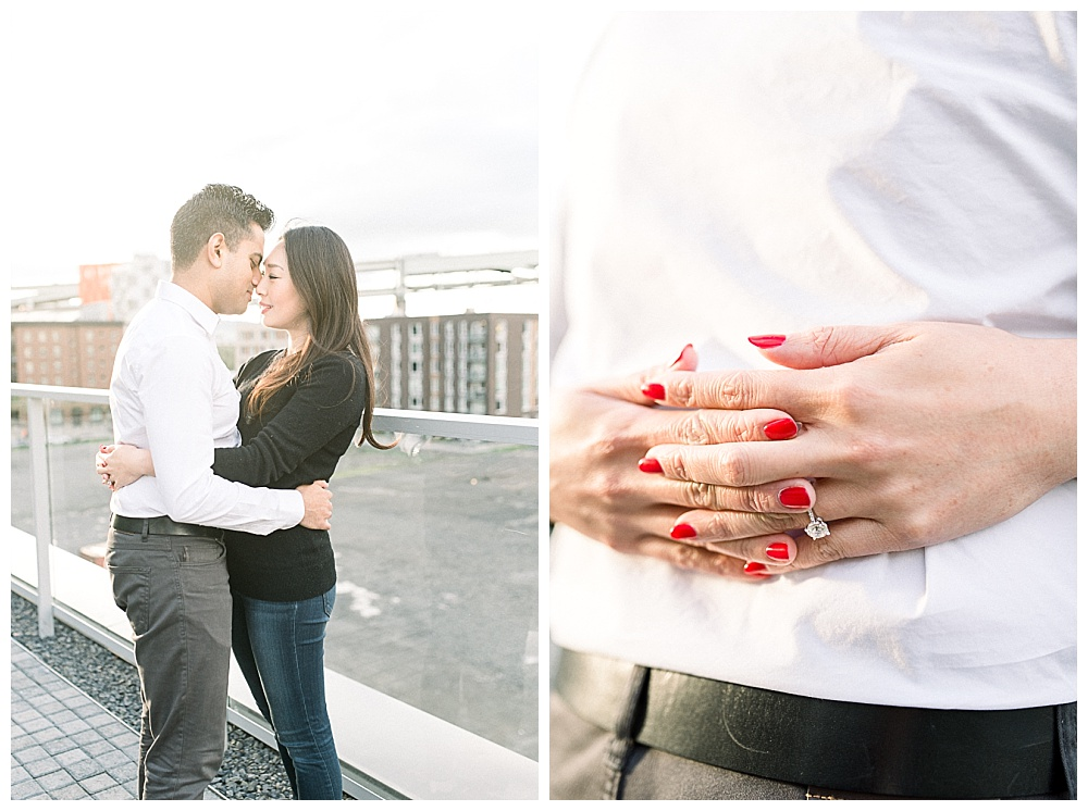 Portland OR Rooftop Engagement Session