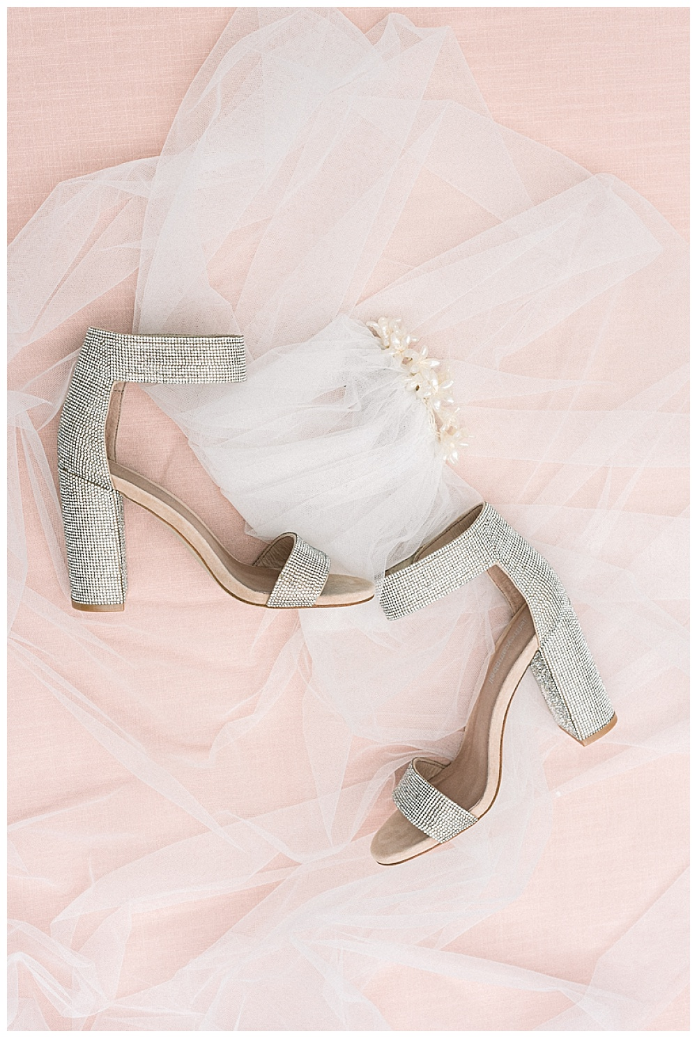 sparkly wedding shoes on blush background, waverley country club portland oregon
